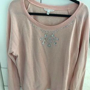 Sweatshirt with embellishments